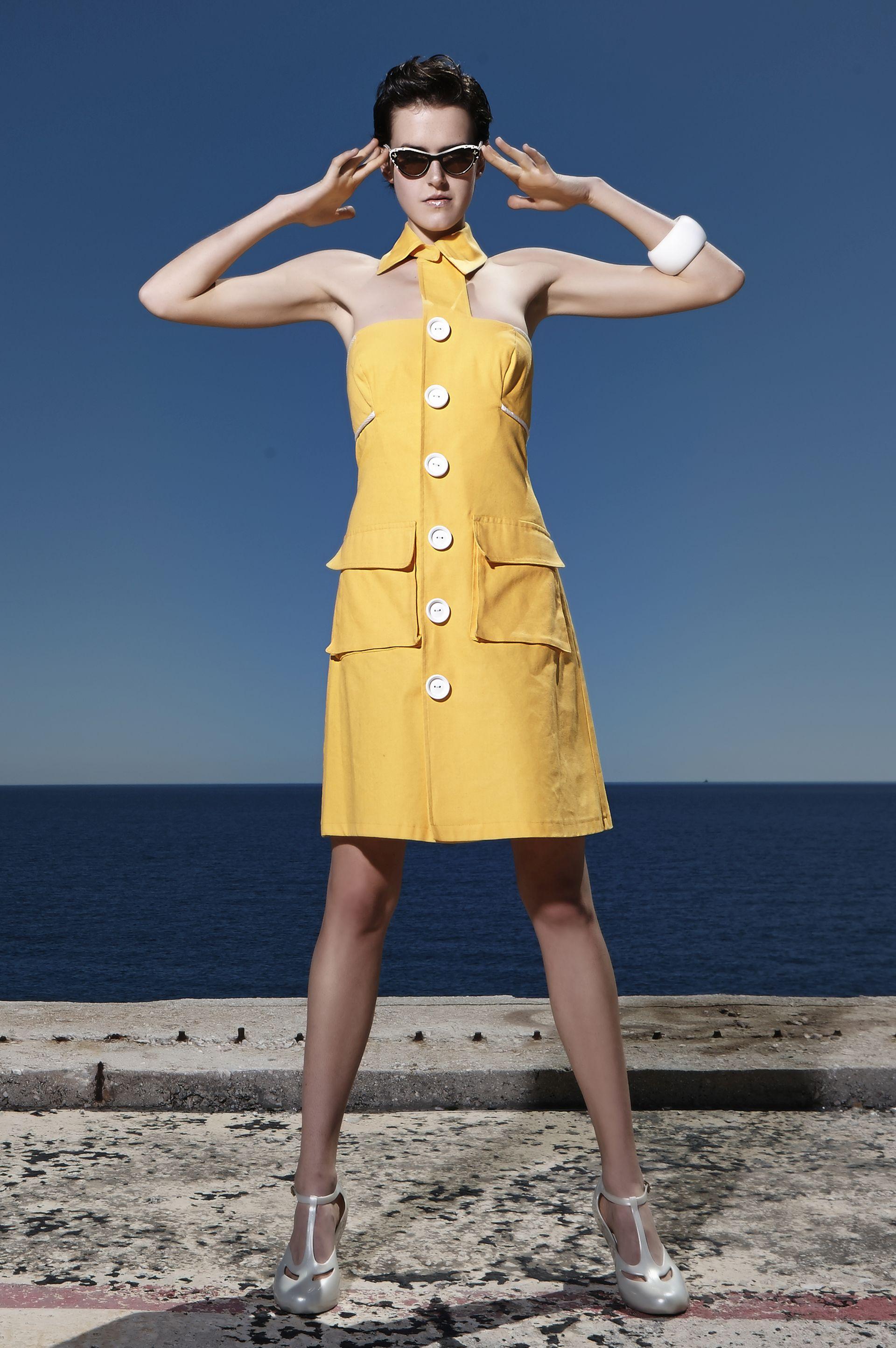 60's μίνι φόρεμα με γιακά